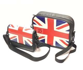 Union Jack Front Bag and Saddle Bag Set for Brompton