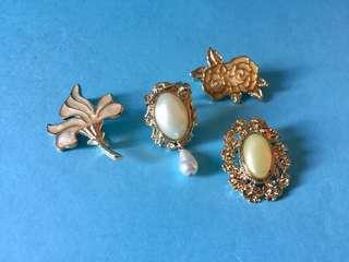 Vintage 1960s Women's Brooches and Pins from Japan 復古 懷舊 女士飾物