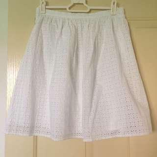 White Uniqlo Skirt