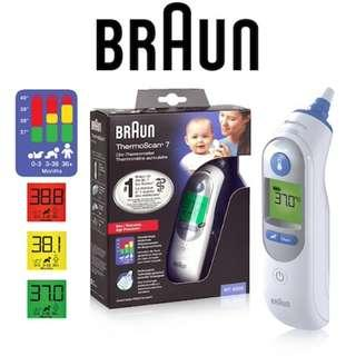 Braun Thermoscan 7 IRT6520 Ear Thermometer (singapore distributor)