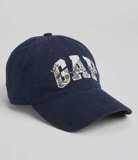 🚚 🆕GAP 深藍色logo棒球帽🧢百搭