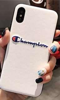 White champion iPhone X case