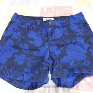 Old navy Blue floral short