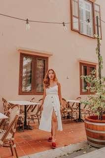 Kissablebella White Button Down Midi Dress