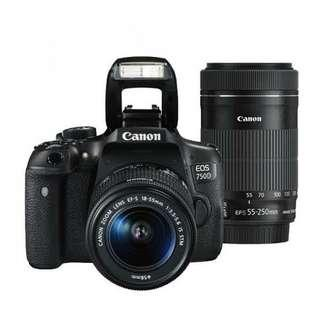 Canon eos 750D bisa cash and credit