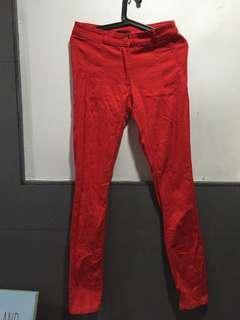 H&M Red Denim Skinny Jeans