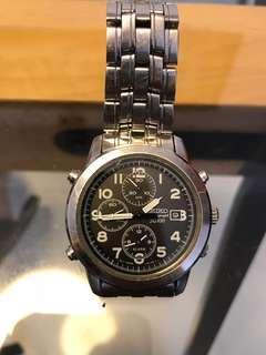 精工 Seiko chronograph sq100 男裝手錶