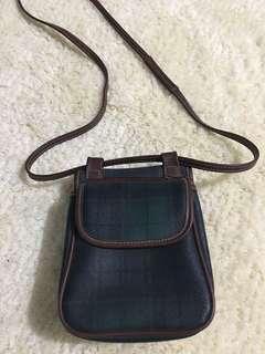 Plaid sling bag