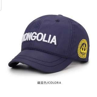 深藍色短帽簷 棒球帽 鴨舌帽 休閒帽【近全新】