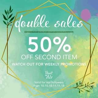 Sales!! Weekly promotions for followers