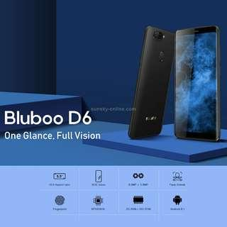 BLUBOO D6, 2GB+16GB, Dual Back Cameras, Face ID & Fingerprint Identification, 5.5 inch 2.5D Curved Android 8.1 MTK6580A Quad Core up to 1.3GHz, Network: 3G, Dual SIM