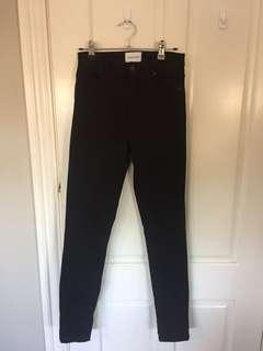 Abrand Black High Waisted Skinny Jeans