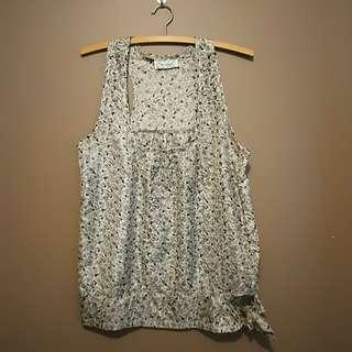 SMALL Grey floral sleeveless top
