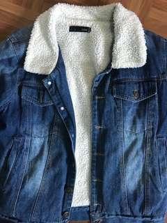 🚚 羊毛鋪棉 牛仔外套