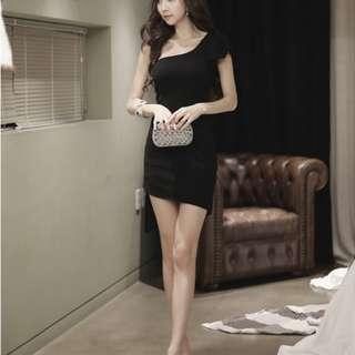 Black Sexy Short Dinner Dress