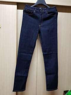 H&M深藍slim fit牛仔褲