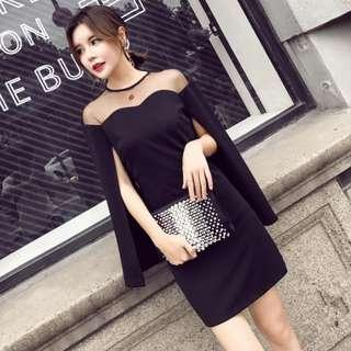 BLACK LONG SLEEVE SMART OR OFFICE WEAR DRESS