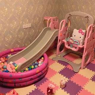 3in1 Hello Kitty Slide and swing