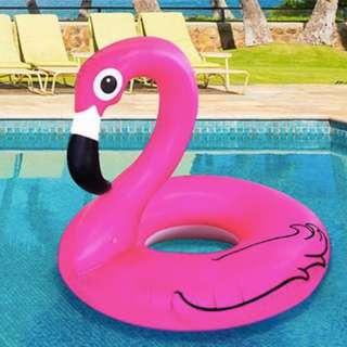 Giant Inflatable Flamingo Rubber Ring Pool Float