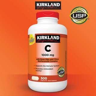 Kirkland Vitamin C 1000mg 500tabs