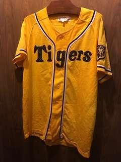 古著 阪神虎 棒球衣 黃色