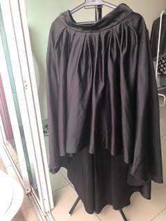 Black Pleated Ribbon Skirt