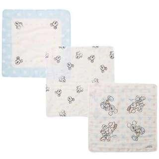 Micky&Minnie 3層紗布手帕