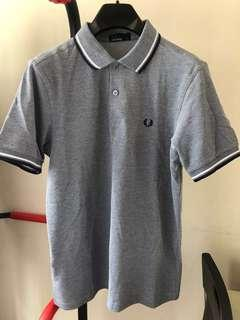 Fred Perry Polo Shirt 灰藍色