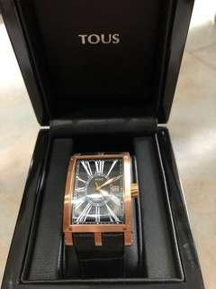 Tous Black Leather Watch