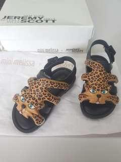 Mini Melissa Flox s6 13cm usa size 6 Jeremy Scott sandals
