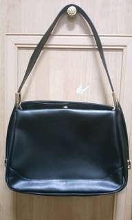 Genuine Leather Black Classic Handbag