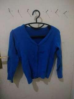 Blue electric cardigan