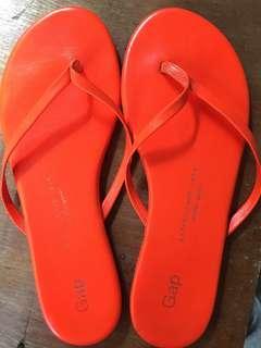 Gap Neon Orange Slippers