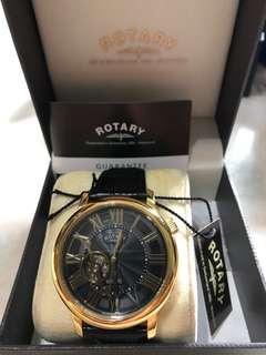 Rotary Gold skeleton watch