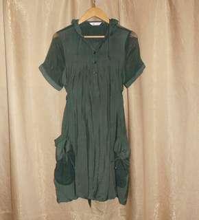 SALE Hooded Dress