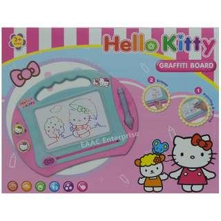 Cute Hello Kitty Magnetic Drawing Board with 4colours Learning Kits