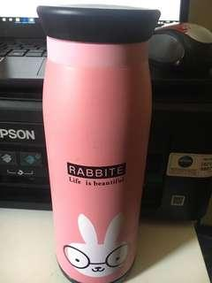 Hot bottle. Pink rabbit. New. Freongkir jabodetabek