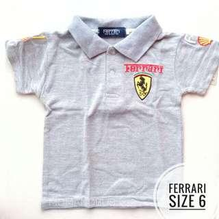 FERRARI COLLARED SHIRT CAR RACER COSTUME (GREY)
