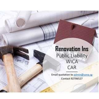 Renovation and Contractor Ins