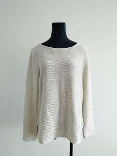 H&M off white top size 10