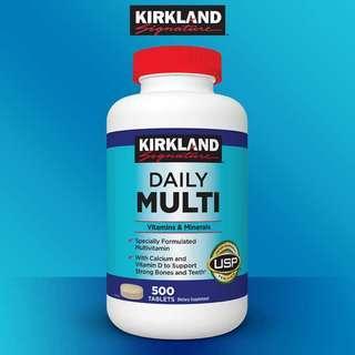 Kirkland Daily Multi Vitamins & Minerals 500 tabs