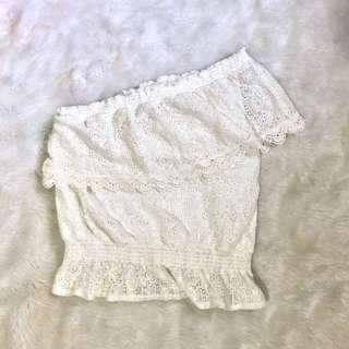 Newlook assymmetrical lace top