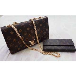 LV Chain Bag with Wallet