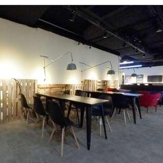 cozy co working space with pantry available in shopping area