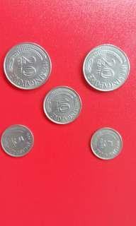 Old 5 and 20 cents coins!$1each