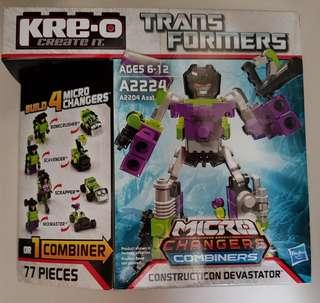 KRE-O BRICK - Transformers - Construction Devastator (Brand New)