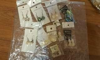 925純銀貝殼吊墜耳環 外貿飾物批發共10件包平郵📮