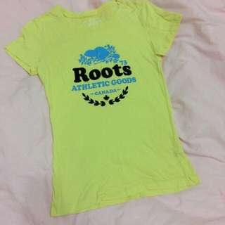 🚚 🇨🇦 加拿大 Roots 合身T恤
