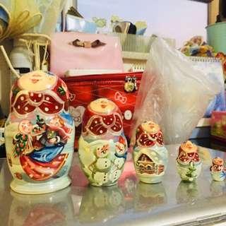 工匠手製俄羅斯娃娃 5隻不同款