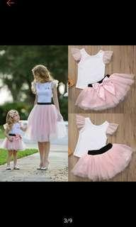 Family Matching Mother and Daughter Tutu Dress Tulle Skirt